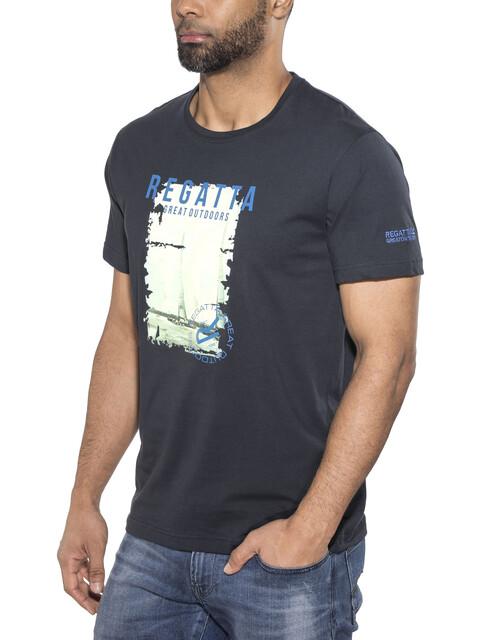 Regatta Cline II t-shirt Heren blauw